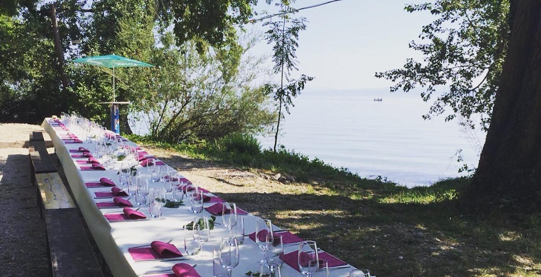 Banquet à la Pointe du Grin, lac de Neuchâtel