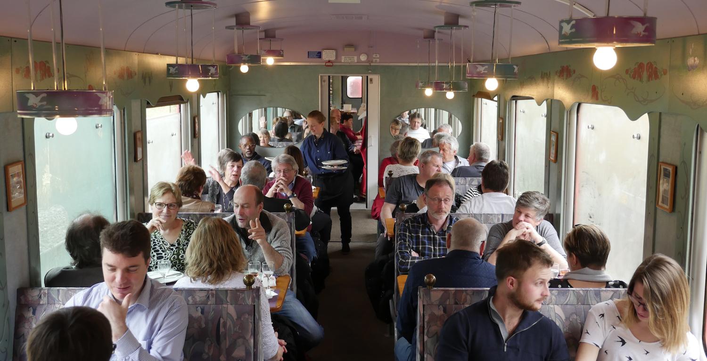 Service traiteur train RVT historique