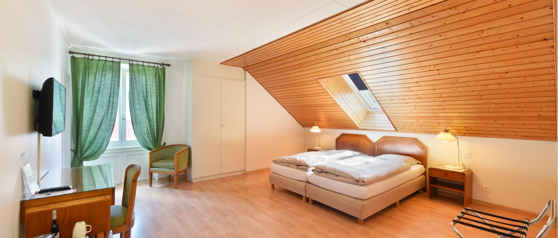 Chambre double avec lits jumeaux - Hôtel de l\'Aigle