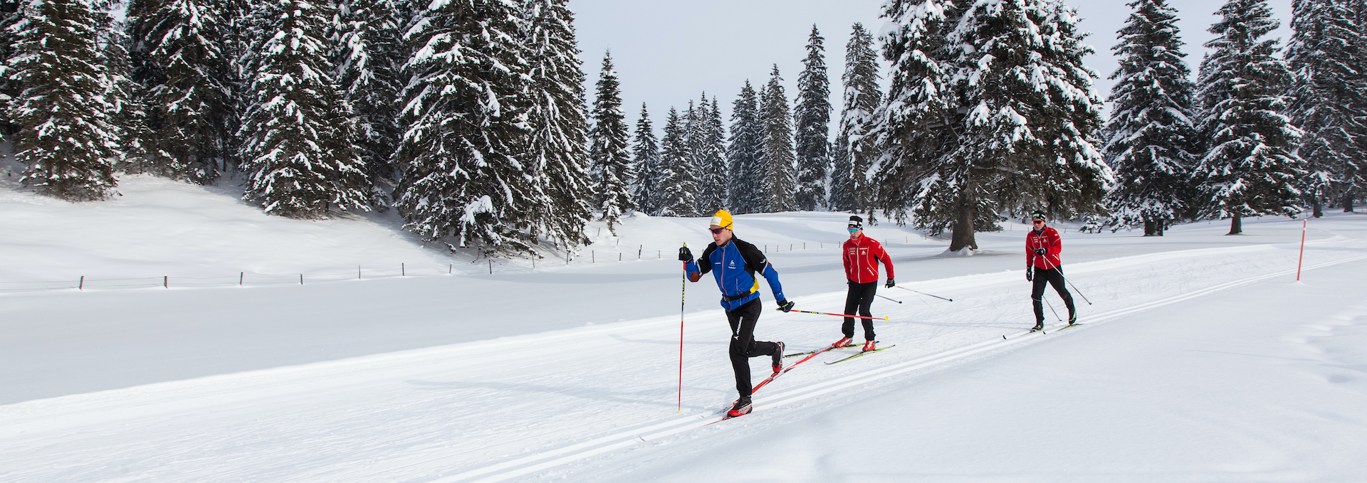 Ski de fond dans les Montagnes neuchâteloises / ©Tourisme neuchâtelois - Guillaume Perret