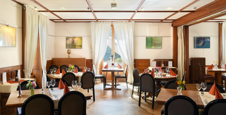 Salle de restaurant de l'Hôtel de l'Aigle